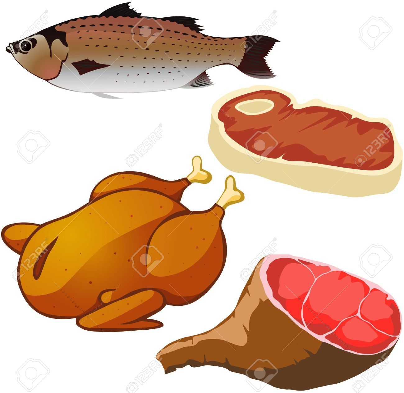Fish meat clipart.