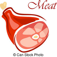 Clipart Vector of Fresh raw beef meat.