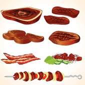 Stock Illustration of Meat on bone k1127647.