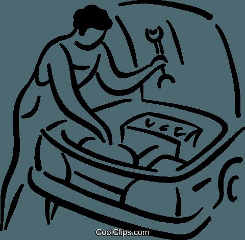 Auto Mecânica livre de direitos Vetores Clip Art ilustração.