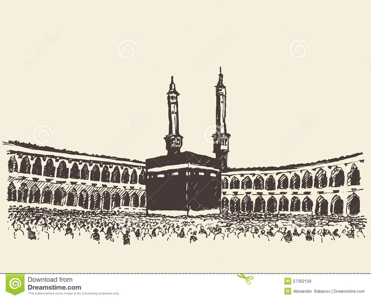 Mecca Stock Illustrations.