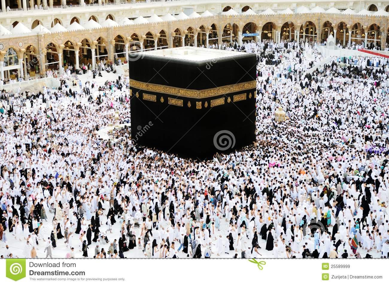 Makkah Kaaba Hajj Muslims Editorial Stock Image.