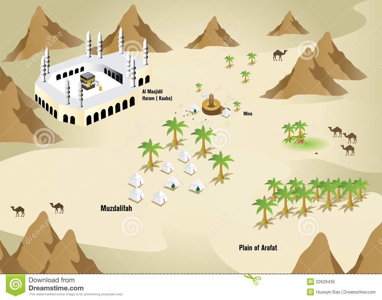 Mecca Stock Illustrations.