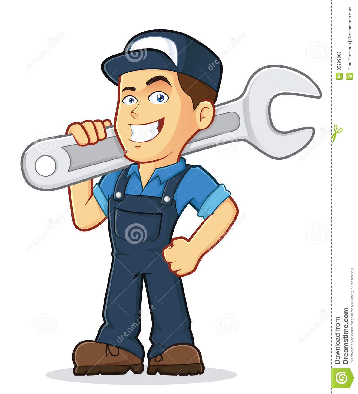 Auto Mechanic Free Clipart.