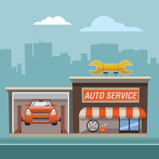 Best Auto Repair Shop Illustrations, Royalty.