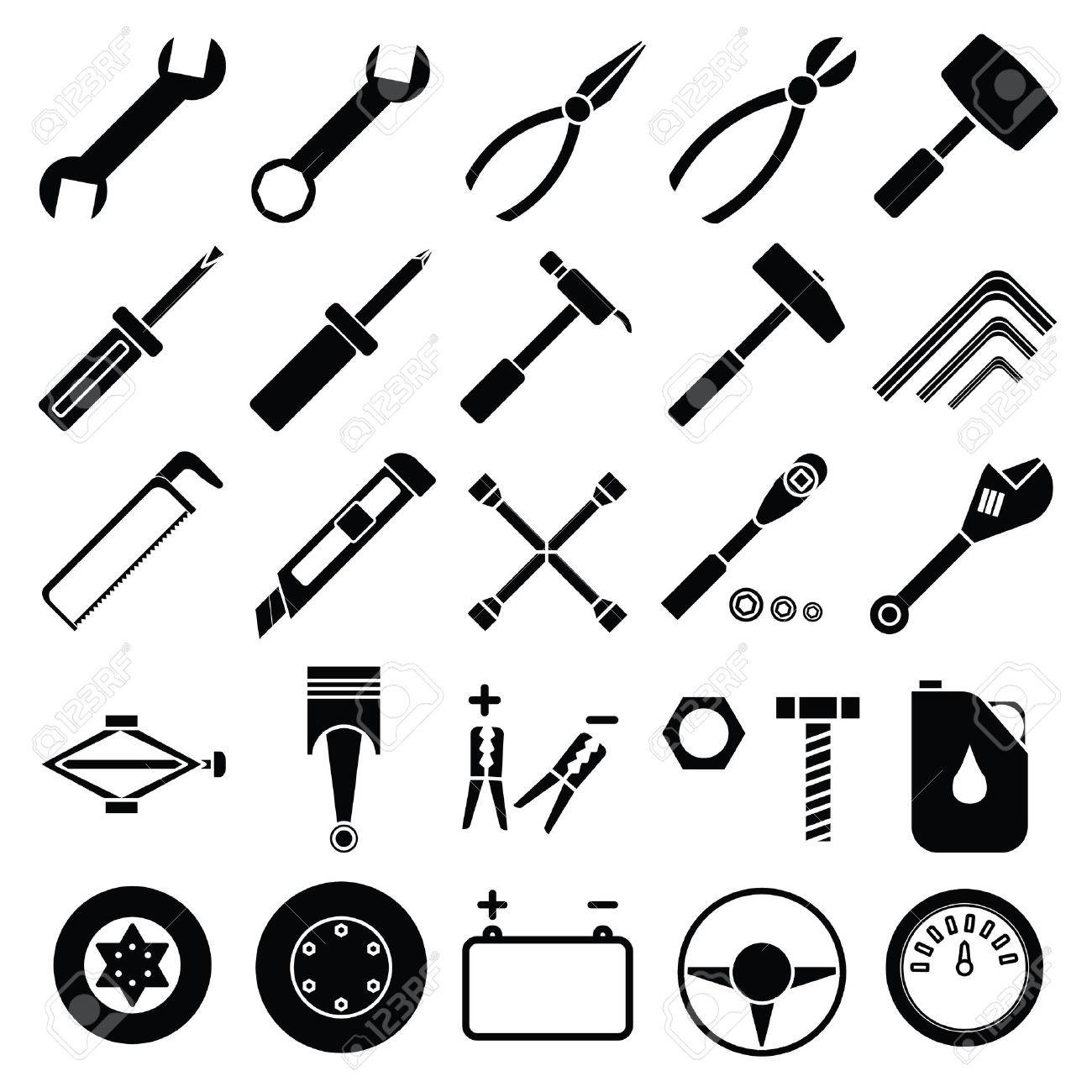 Mechanic tools clipart 2 » Clipart Station.