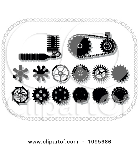 Clipart Black And White Gear Cogs Gears And Mechanical Items In A.