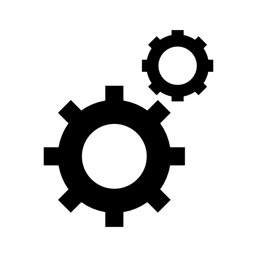mechanical gear icon.