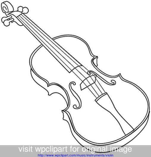 violin outline bold.