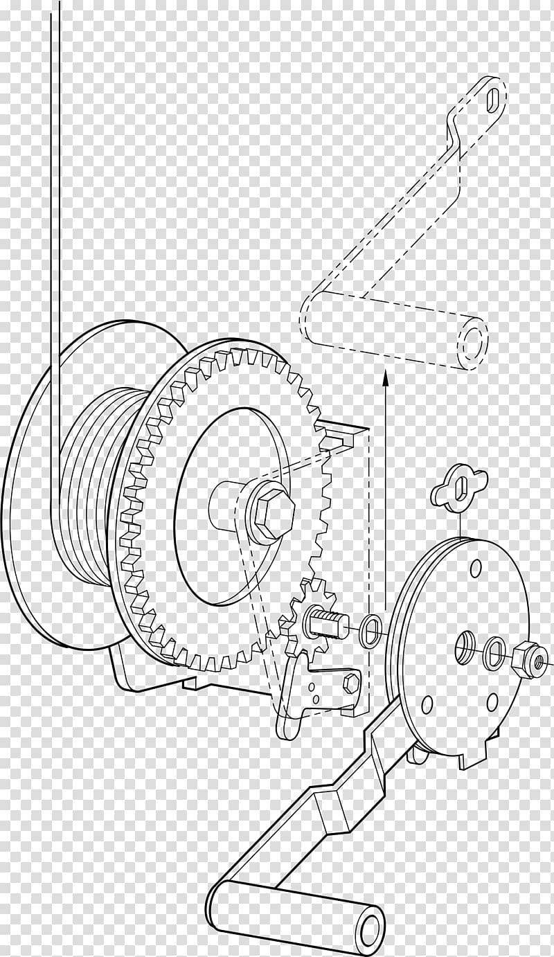 Winch Hoist , mechanical parts transparent background PNG.