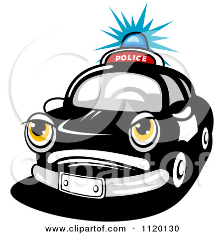 Clipart Driving Car In Black And White.