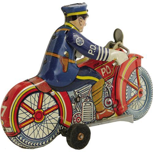 Marx Mechanical Police Siren Motorcycle.