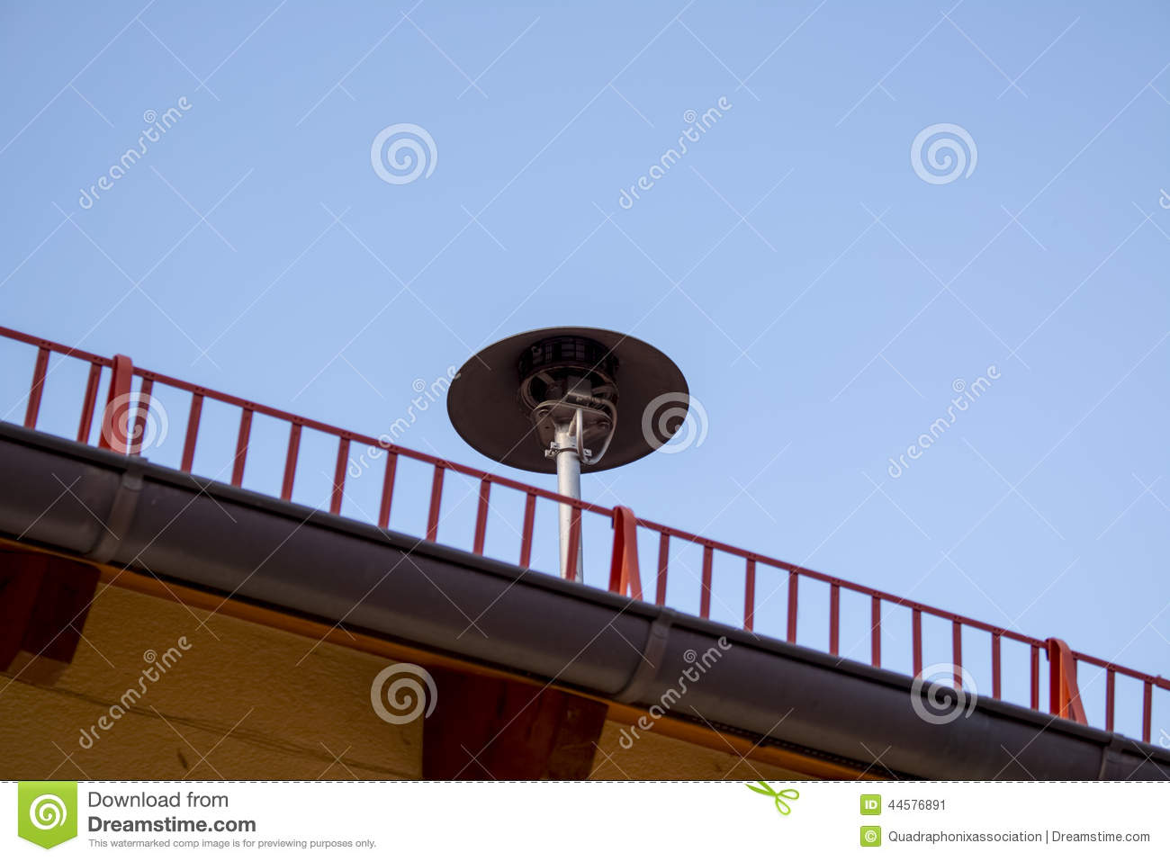 Air Raid Siren On Roof Stock Photo.