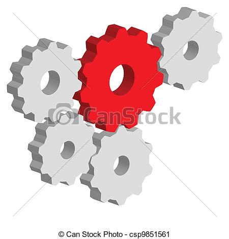 Vector Clip Art of Gears.