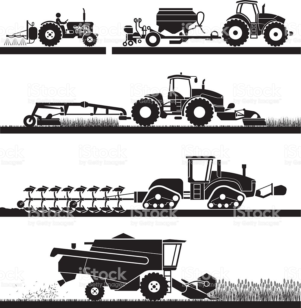 Agricultural Mechanization Icons stock vector art 505467892.