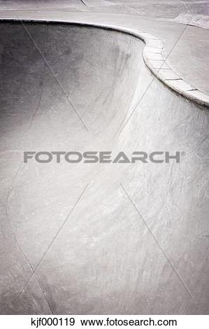 Stock Photograph of Belgium, Mechelen, View of skatebowl with.