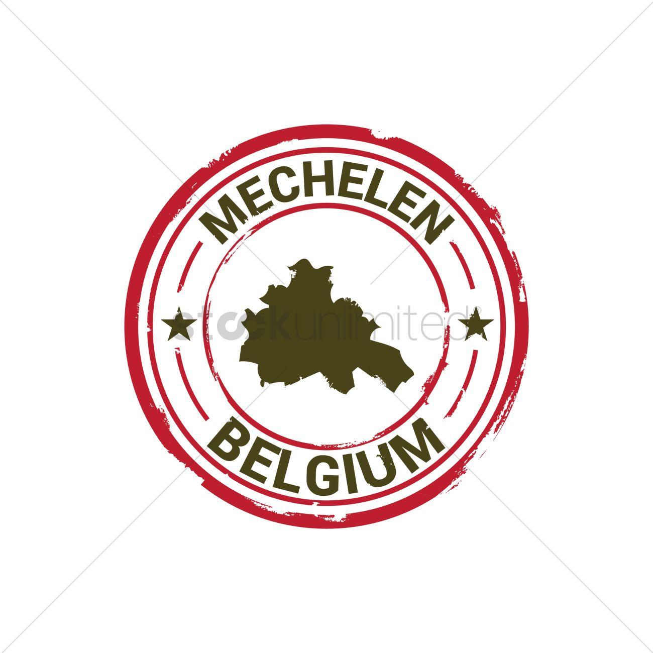Mechelen map stamp Vector Image.