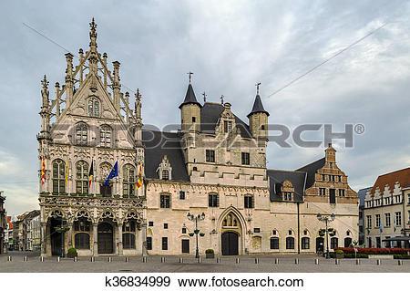 Stock Photograph of Mechelen City Hall, Beldium k36834999.