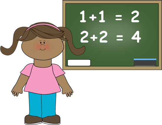 Students Doing Math Clipart.