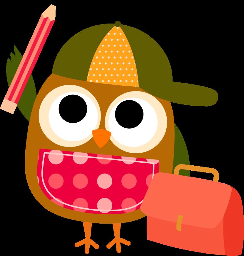 Owl math clipart.