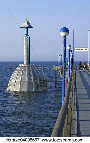 "Picture of ""Submerged gondola at the pier of Zingst, Darss."