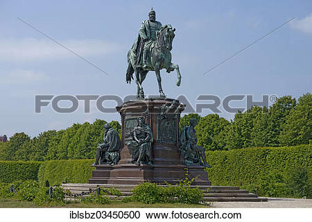"Stock Photography of ""Monument to Friedrich Franz II in Schwerin."