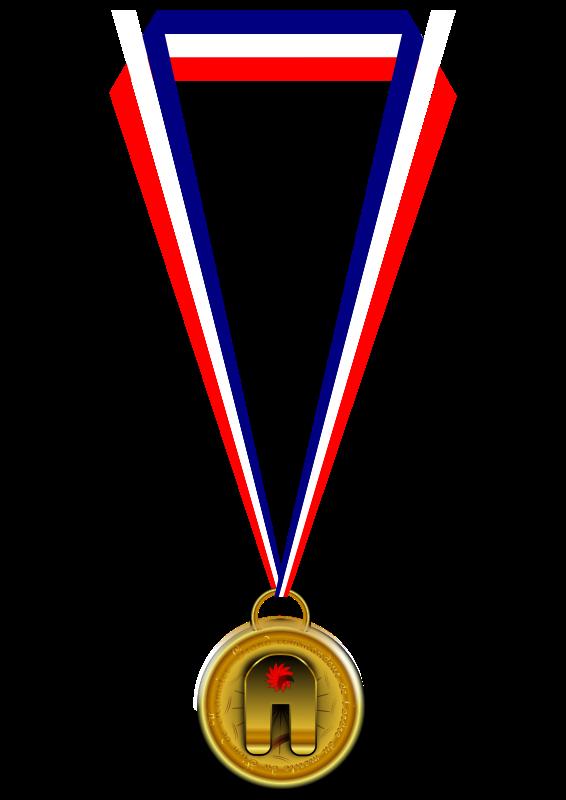 Free Clipart: Medaille du hamster.