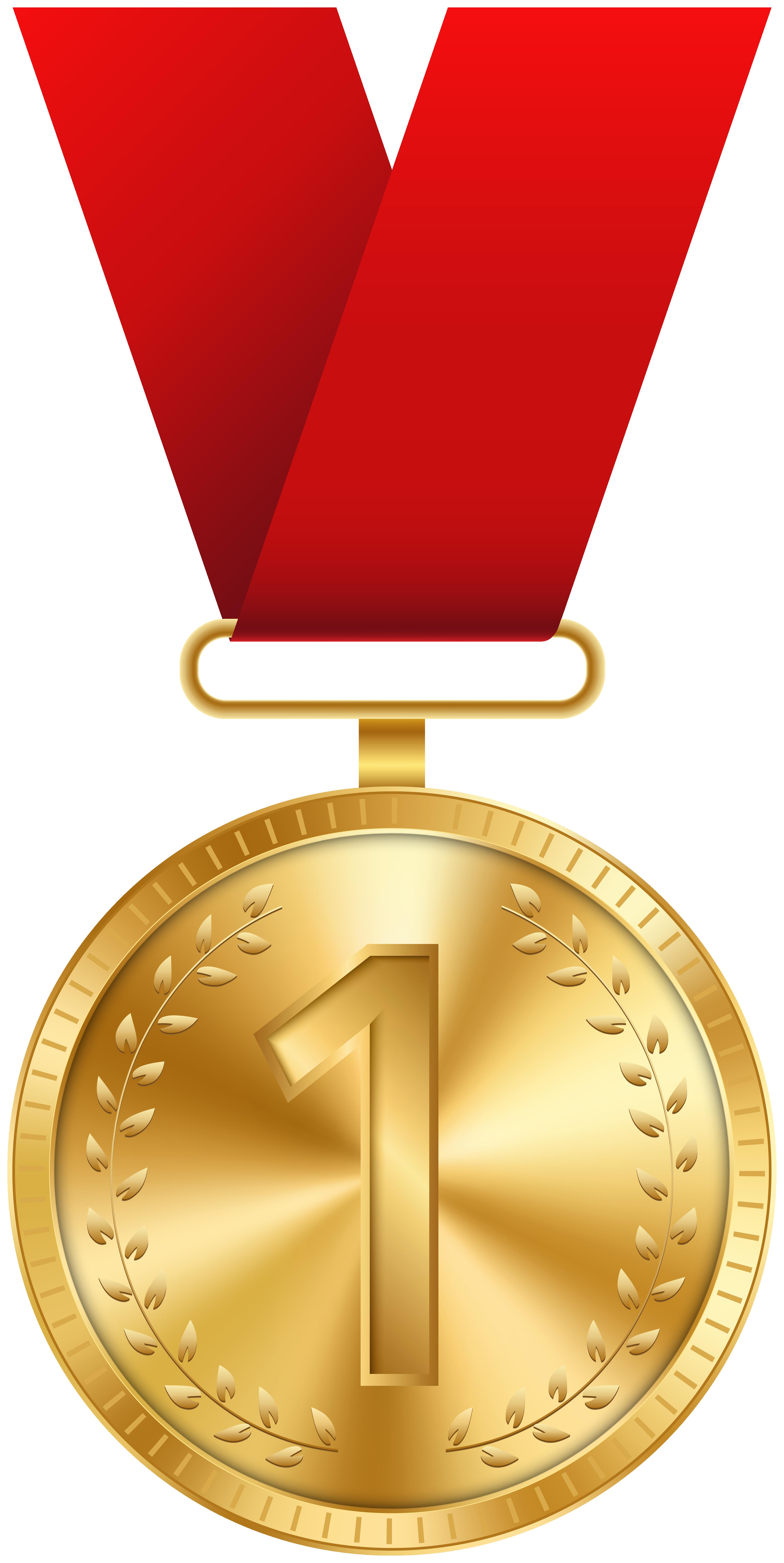 Gold Medal PNG Clip Art Image.