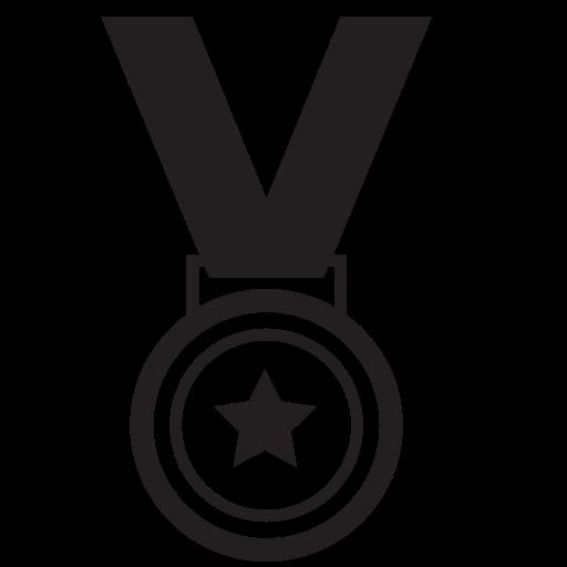 Award, gold, medal, star, winner icon.
