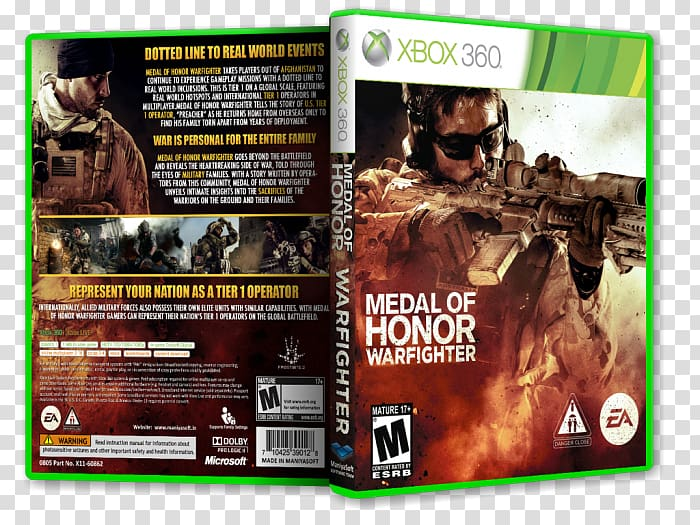Xbox 360 Medal of Honor: Warfighter PC game, others.