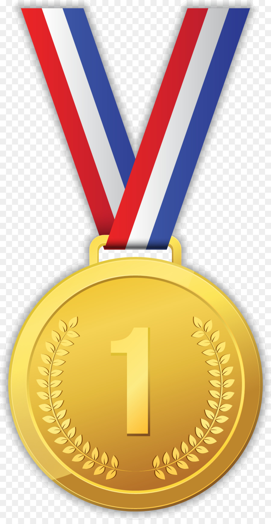 Cartoon Gold Medal png download.