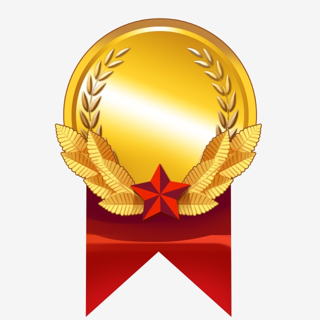Dibujado A Mano Medalla Medalla Medalla, Mano, Medalla De.