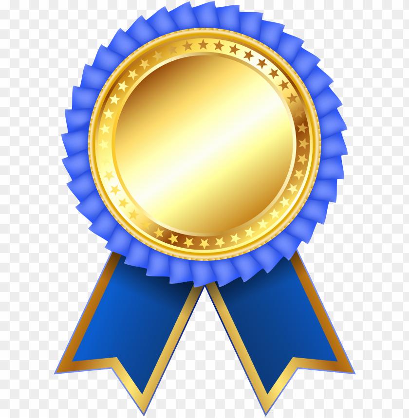 Download blue medal ribbon png.