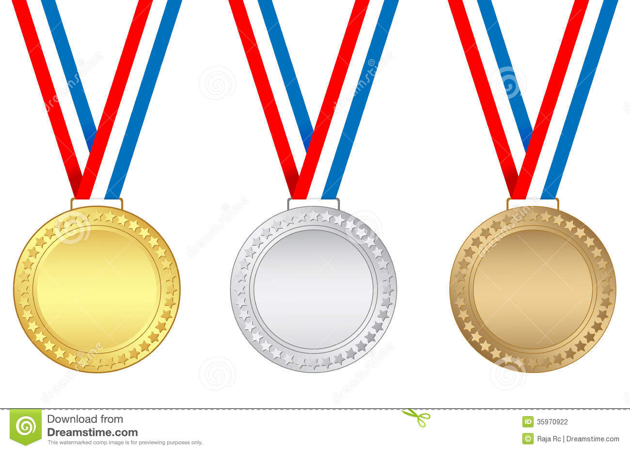 Award Medals Clipart.