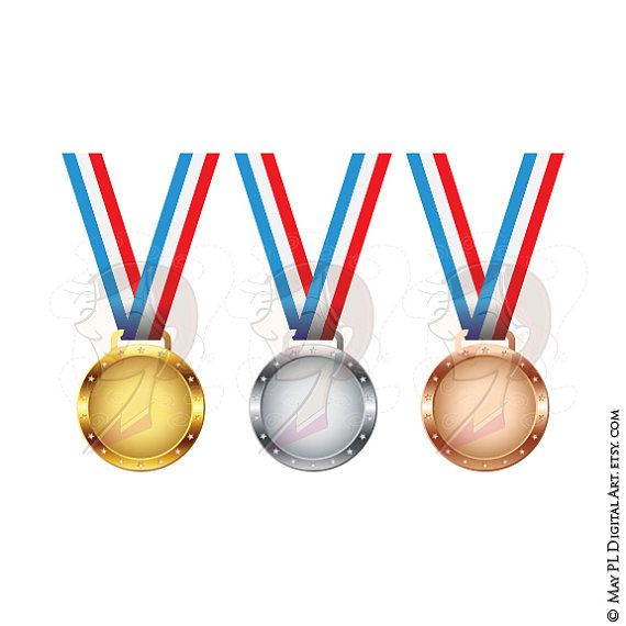 Medals And Trophies Clipart.