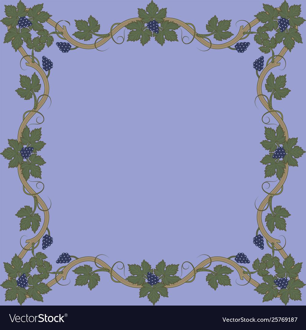 Medieval floral frame.