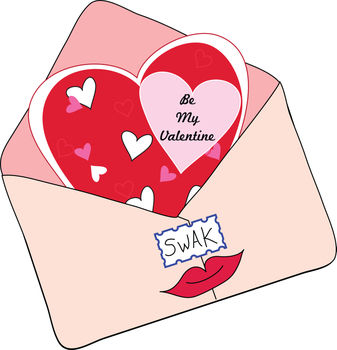 Clip Art Illustration of a Valentine Card in an Envelope « Medford.