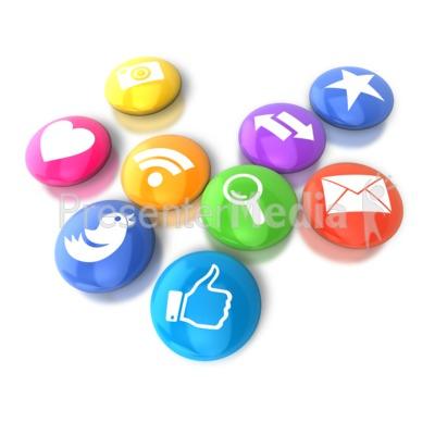 Circular Social Media Icons.