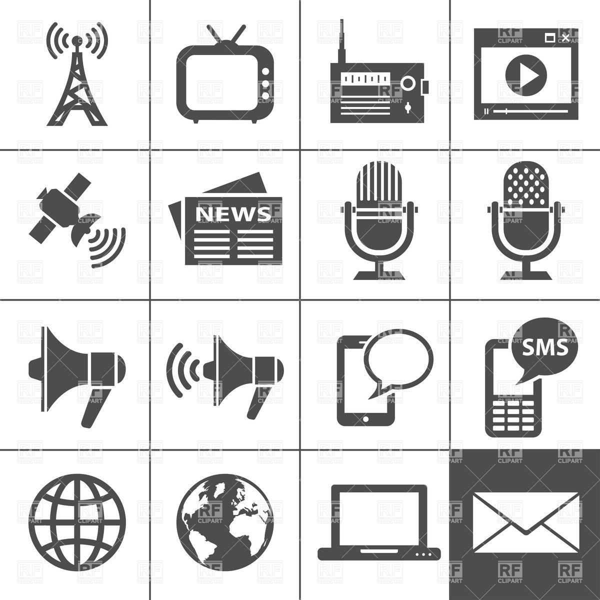 Mass Media Communication Clipart.