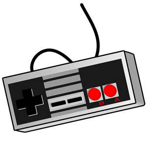 Old School Game Controller clipart, cliparts of Old School Game.
