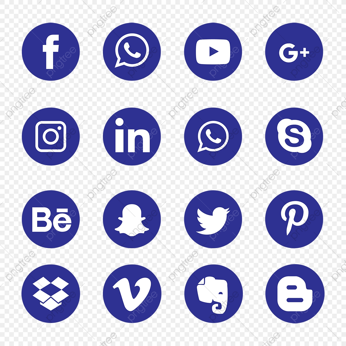 Blue Social Media Icons, Social, Media, Icon PNG and Vector.