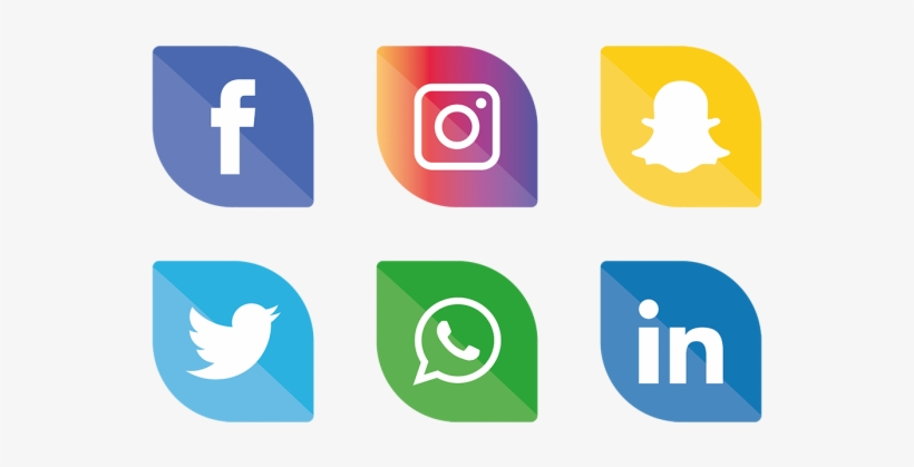 Social Media Icons Clipart.