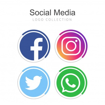 Popular social media logo collection Vector.