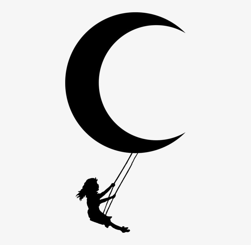 Lunar Clipart Moon Girl.
