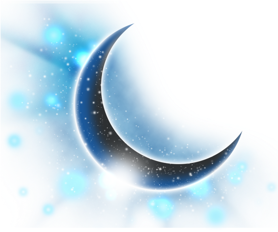 Download Ftestickers Clipart Moon Stars Bluemoon.