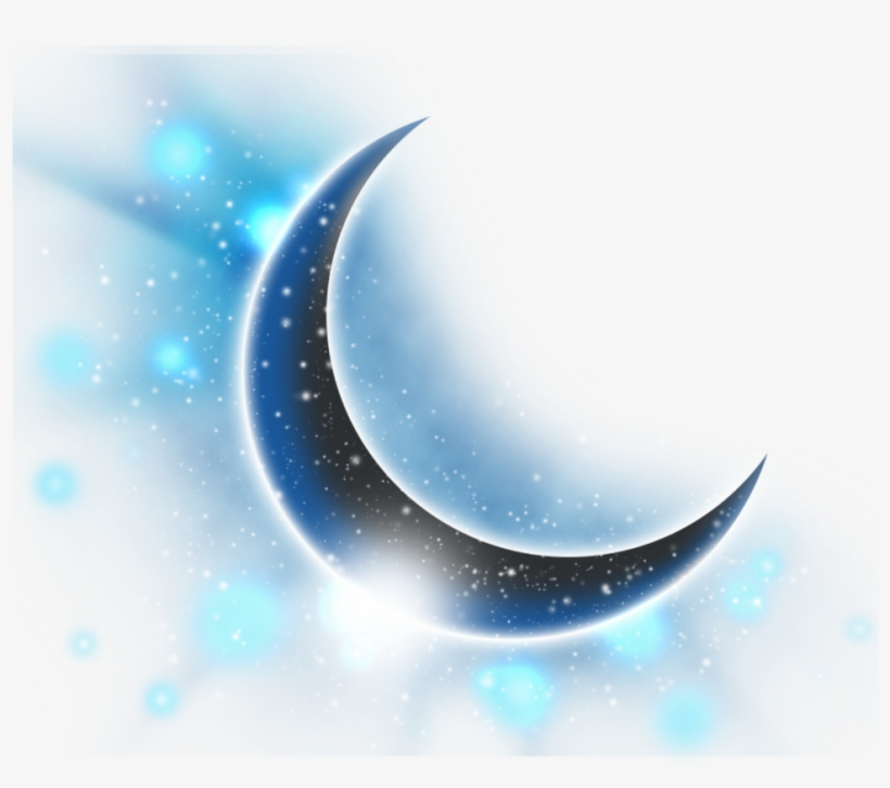 Ftestickers Clipart Moon Stars Bluemoon Crescentmoon.