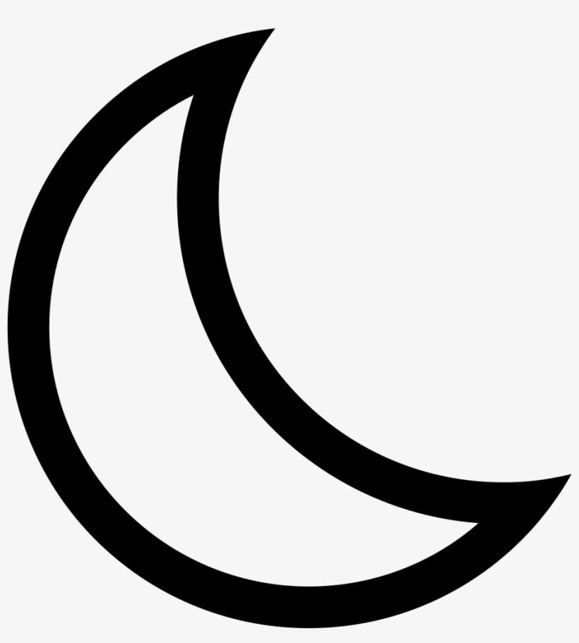 Ios Moon Outline.