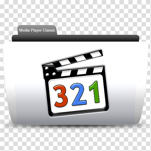 Media Player Classic folder icon transparent background PNG.