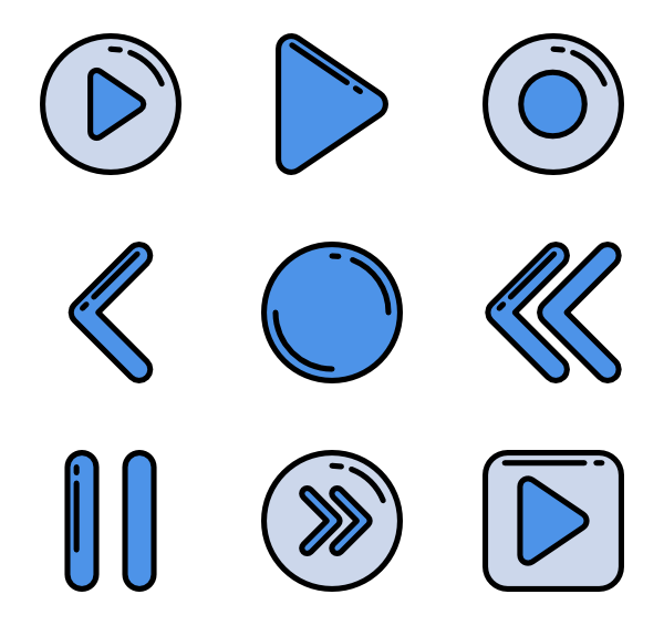 Media player Icons.