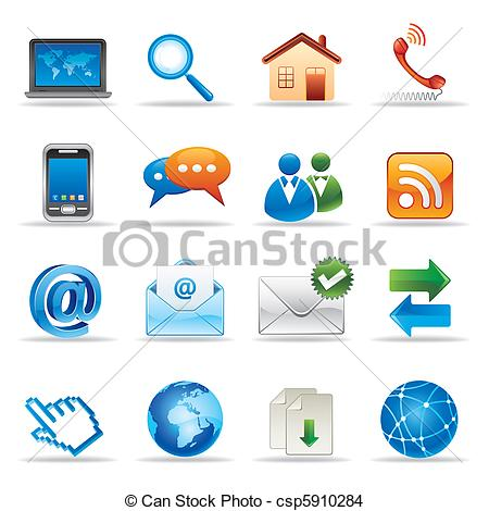 EPS Vector of internet and website icons.